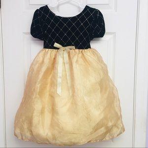 Amy Byer Girls Formal Dress - Black Diamond & Gold